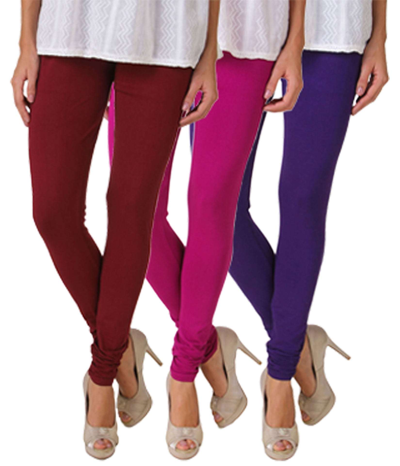 Fasense Solid Cotton Combo Set of 3 Leggings - fasensestore