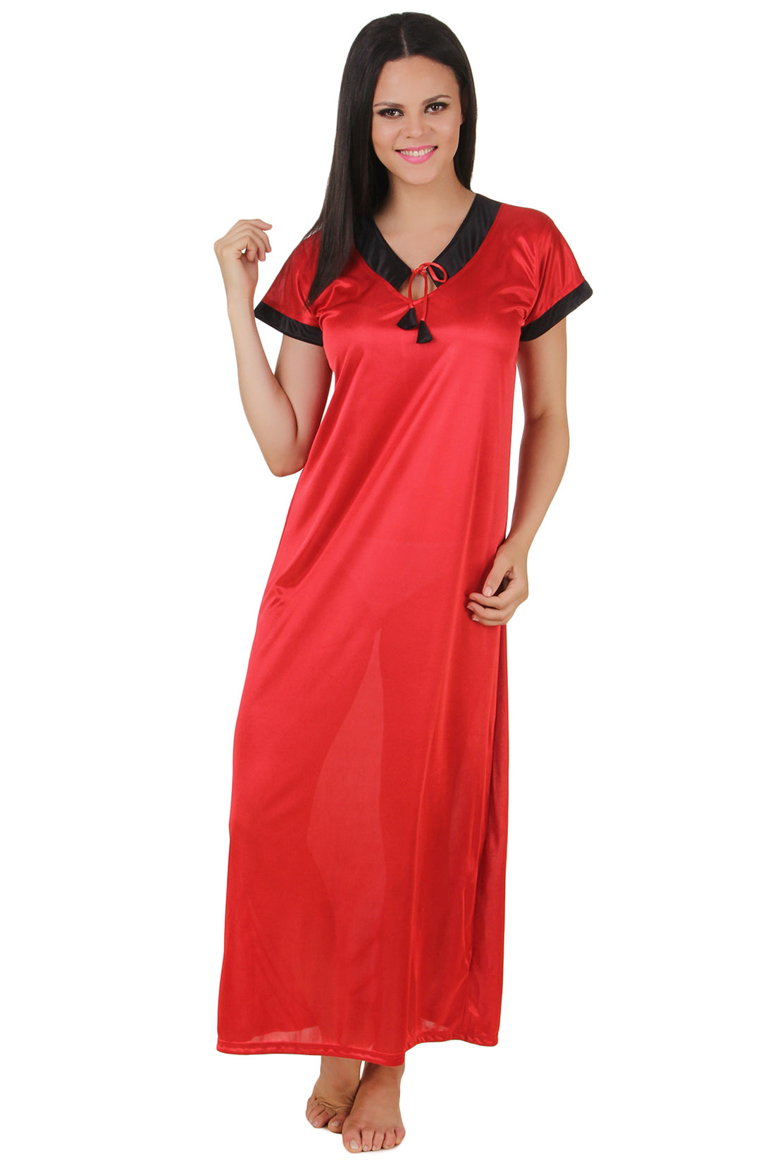 Fasense Satin Solid  Long Nighty  DP141 B