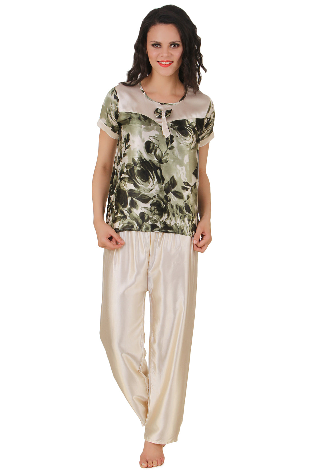 Fasense Satin Night Suit Top & Pyjama Set DP123 - fasensestore