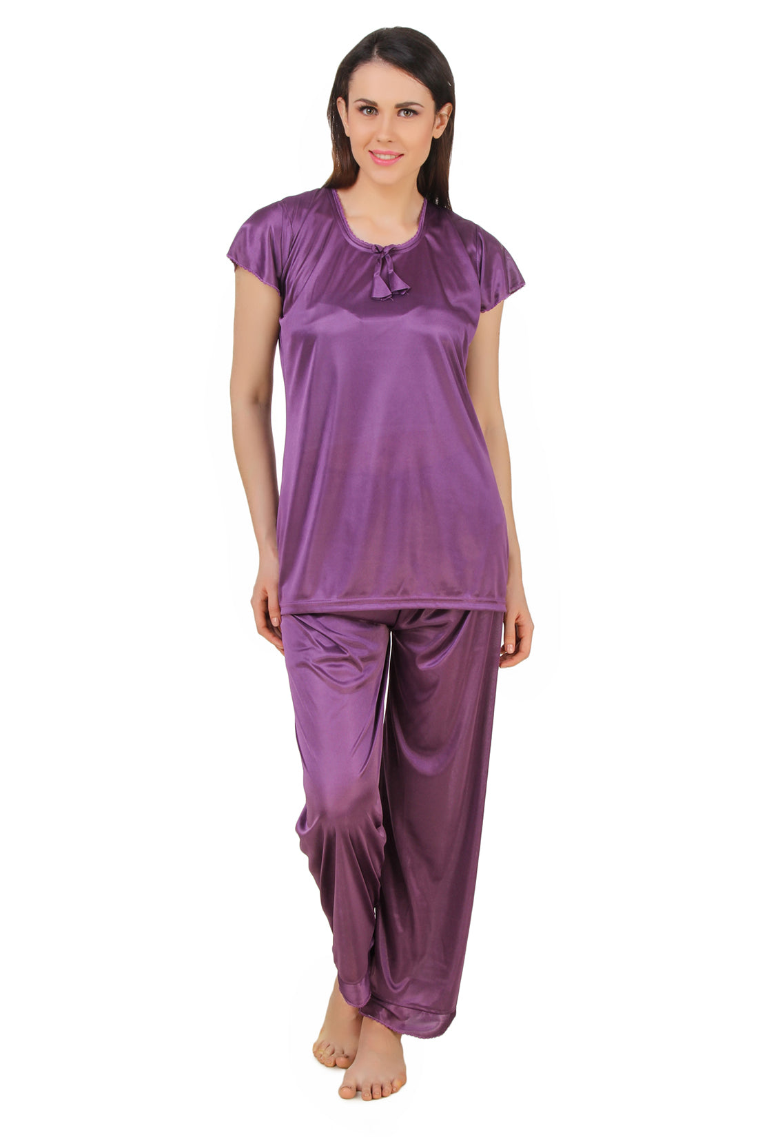 Fasense  Satin  Nightsuit Top & Pyjama Set DP184 - fasensestore