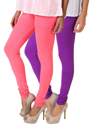 Fasense Solid Cotton Combo Set of 2 Leggings - fasensestore