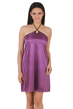 Fasense satin sexy nightwear sleepwear keyhole neck short nighty for women DP081 - fasensestore
