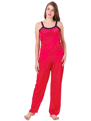 Fasense soft smooth satin nightwear top and pajama night suit for women DP064 - fasensestore