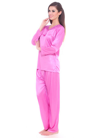 Fasense soft smooth satin nightwear top and pajama night suit for women DP069 - fasensestore