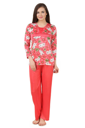 Fasense  Satin  Nightsuit Top & Pyjama Set DP178 - fasensestore