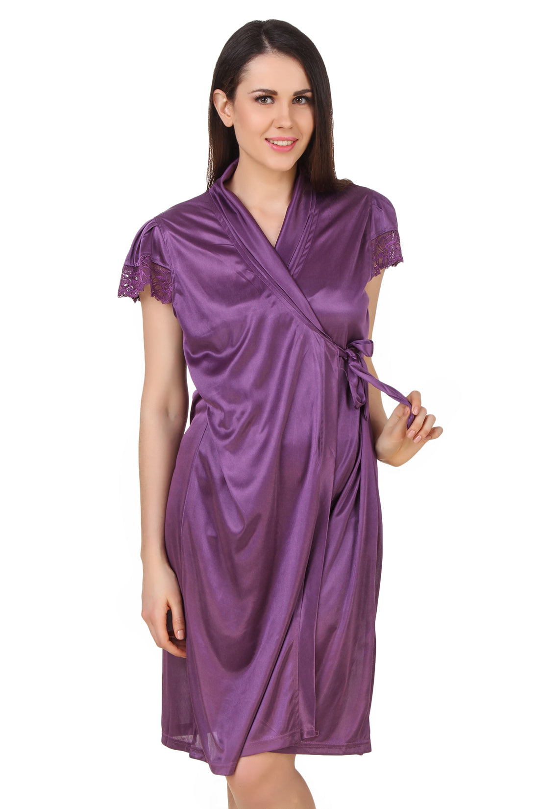 Fasense Women's Wrap Gown DP183