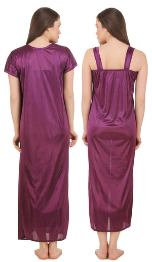 Fasense Satin 2 Pc Set of Nighty & Wrap Gown GT004 - fasensestore