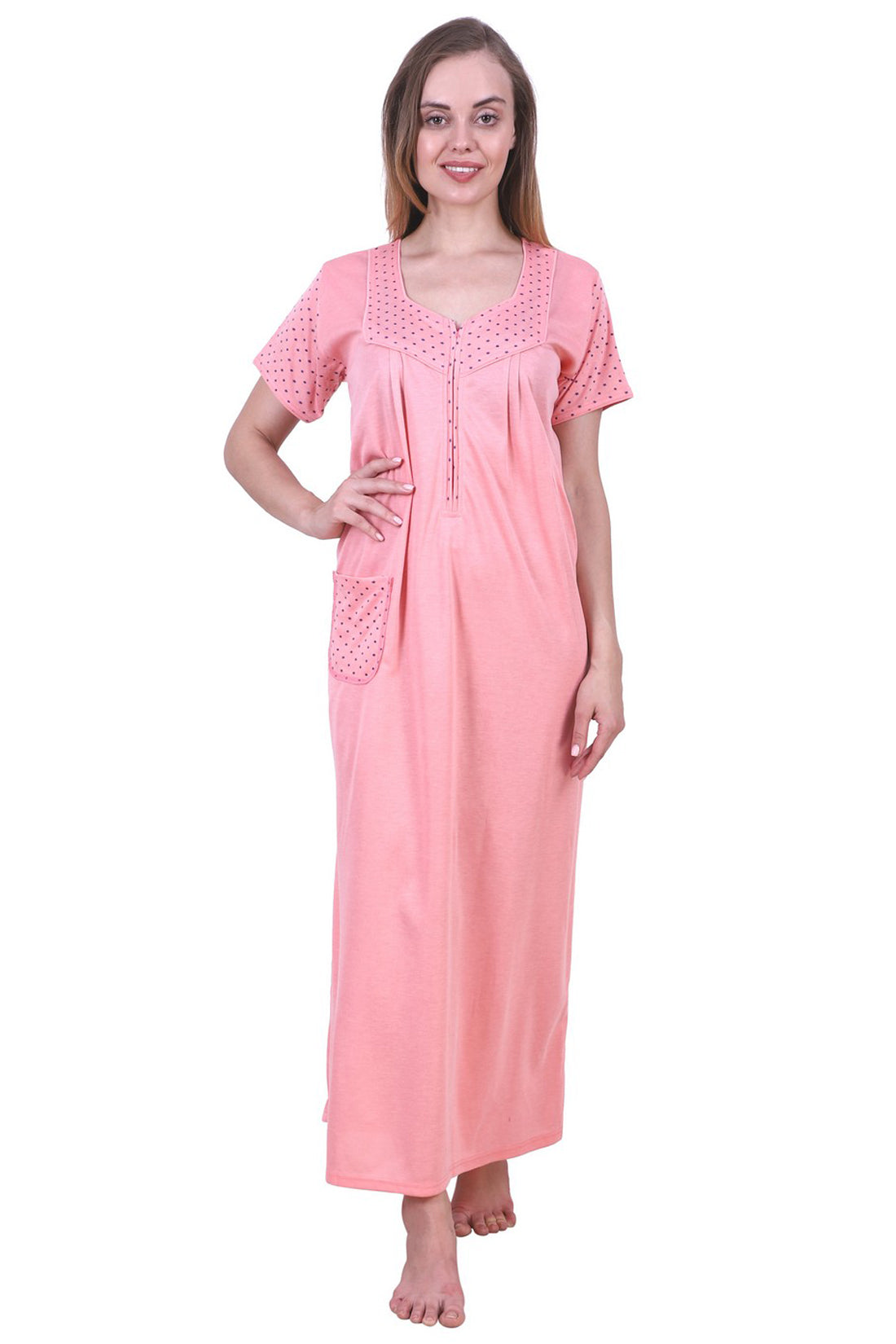 Fasense Women's Cotton Long Nighty SR024