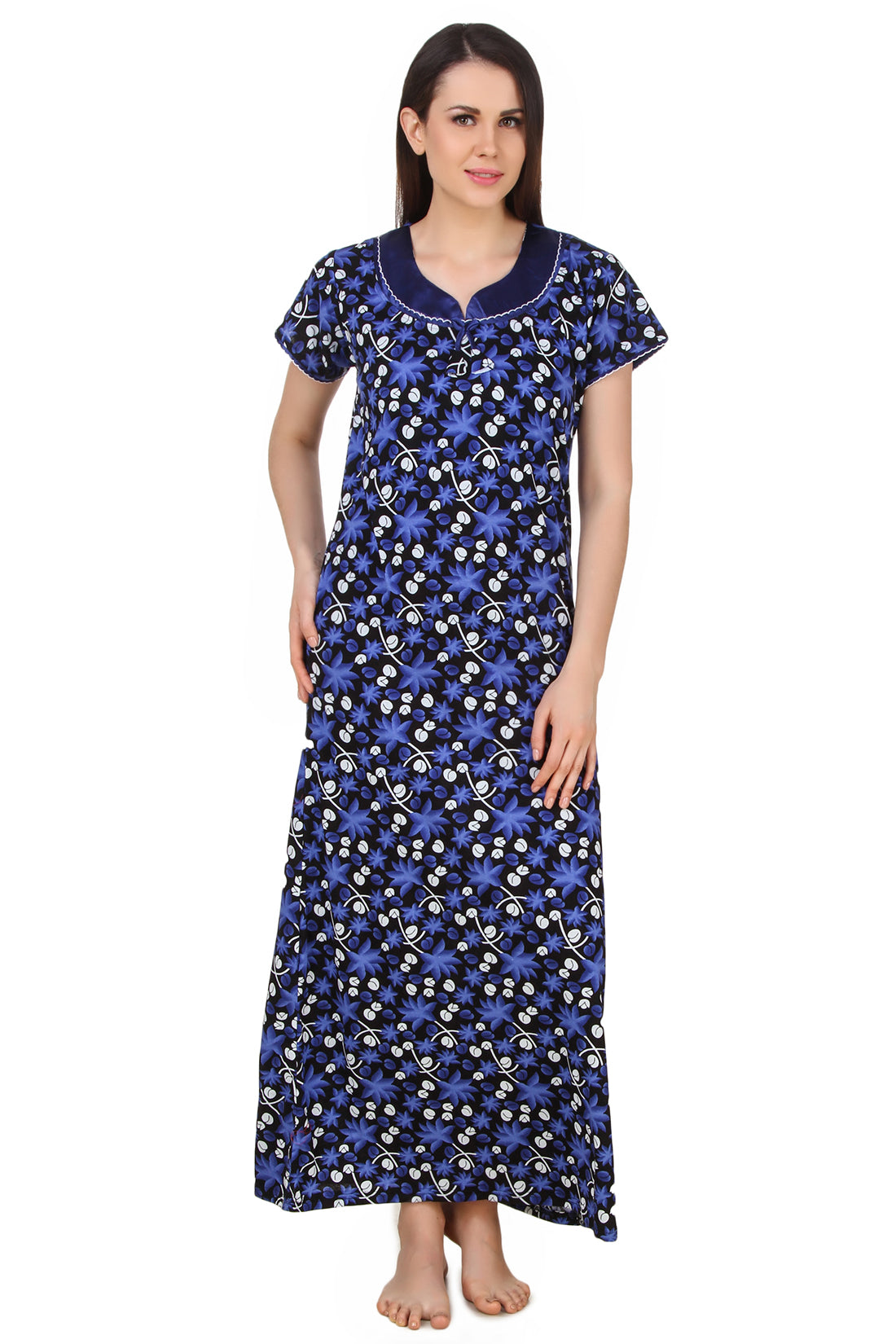 Fasense Sinker Cotton Long Nighty DP159 - fasensestore