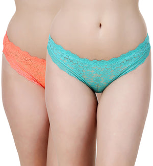 Fasense Women's Solid Set of 2 Hipster Panties JYCOM09 - fasensestore