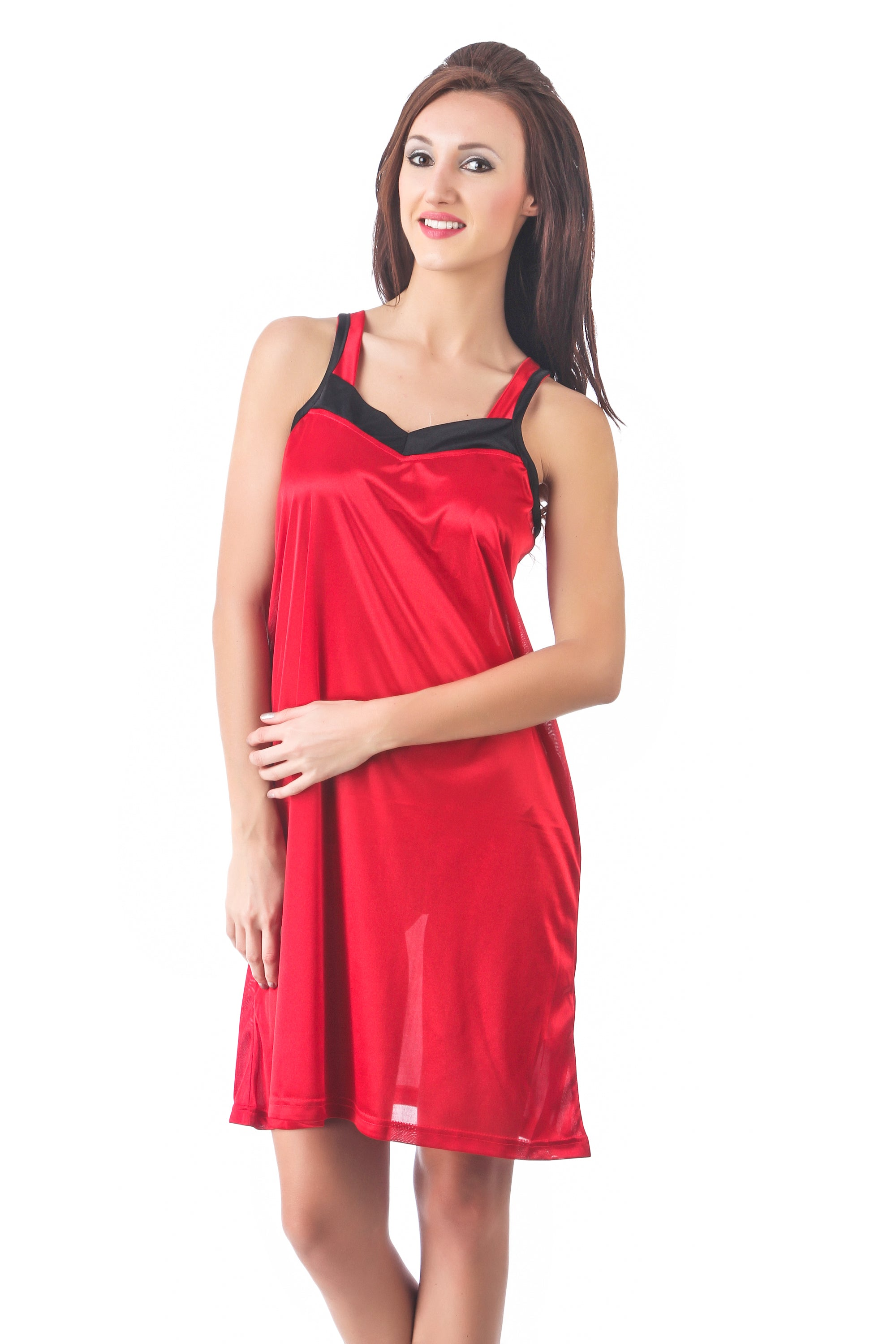 Fasense  Solid Satin Nightwear Short Nighty DP104 - fasensestore