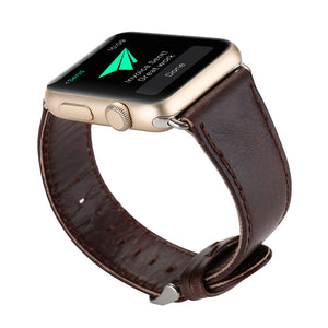 38mm Leather Buckle Apple Watch Strap