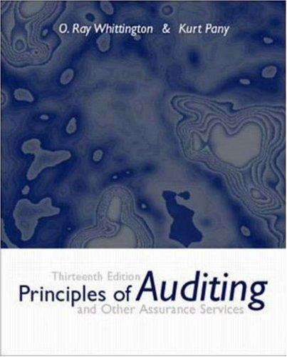 Test Bank for Principles of Auditing and Other Assurance Services 13th Edition