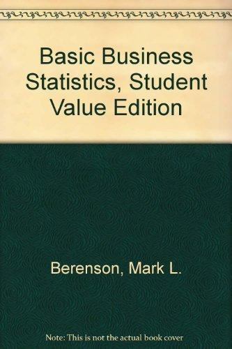 Solution Manual for Basic Business Statistics 11th Edition