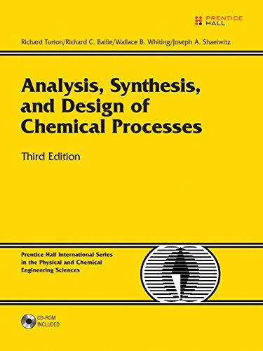 Analysis, Synthesis and Design of Chemical Processes (3rd Edition)	Richard Turton; Richard C. Bailie; Wallace B. Whiting; Joseph A. Shaeiwitz