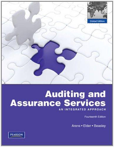 Test Bank for Auditing and Assurance Services 14th Edition