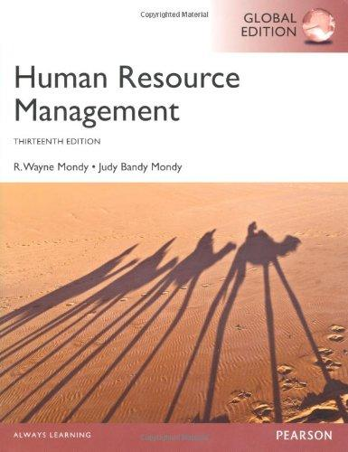 Test Bank for Human Resource Management 13th Edition