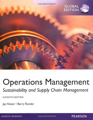 Test Bank for Operations Management 11th Edition