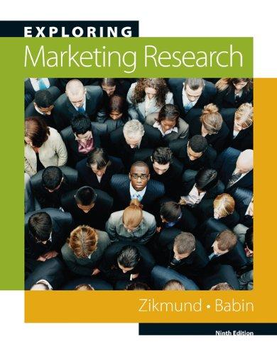 Test Bank for Exploring Marketing Research 10th Edition	William G. Zikmund; Barry J. Babin