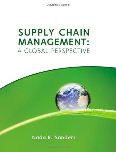 Supply Chain Management: A Global Perspective	Nada R. Sanders