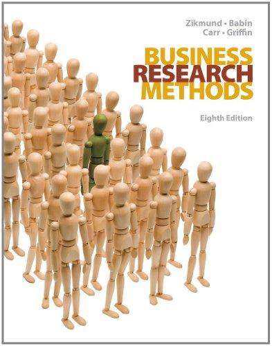 Test Bank for Business Research Methods, 8th Edition