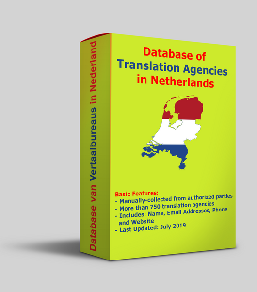 Database of Translation Agencies in Netherlands, Last updated July 2019 - Verified entries