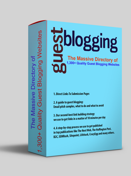 The Massive Directory of 1,300+ Quality Guest Blogging Websites