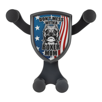 "Artemis™ - ""Don't Mess with a Boxer Mom"" Car Wireless Phone Charger and Holder"