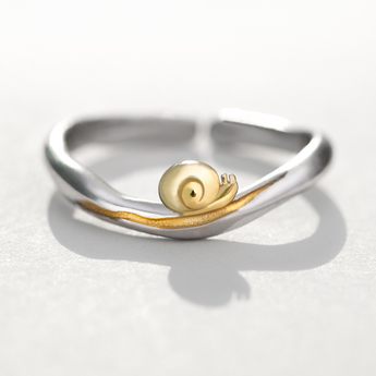 Celticá™ - Snail Rustic Resizable Sterling Silver Ring