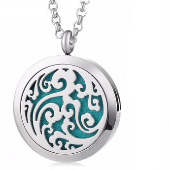 Northern Winds Essential Oil Diffuser Locket Necklace with 5 Easy-Switch Oil Pads