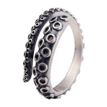 Fino™  - Vintage Tentacle Adjustable Sterling Silver Ring