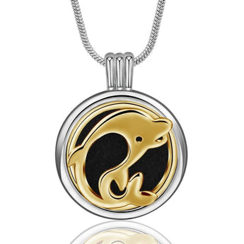 Illume™ Dolphin Play Essential Oil Diffuser Locket with 6 Easy-Switch Oil Pads