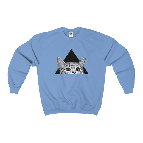Peekaboo Cat - Heavy Blend™ Adult Crewneck Sweatshirt