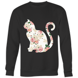 "Floral Cats ""Pink Roses"" Tops"