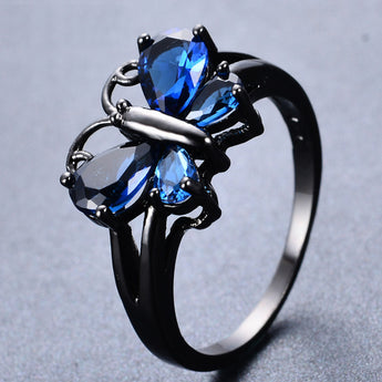Aquastone™ - Aquamarine Butterfly Ring
