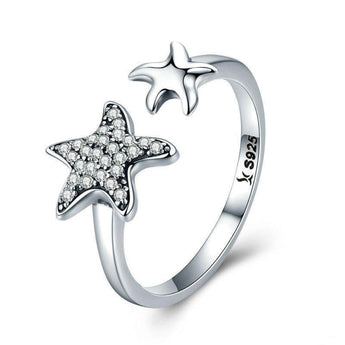 Azuli™ - Trendy Starfish Adjustable Sterling Silver Ring