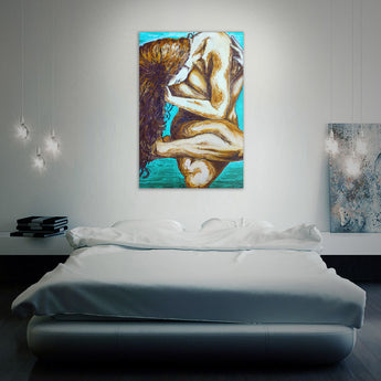 """Naked Elements - Earth"" Printed Canvass Wall Art"