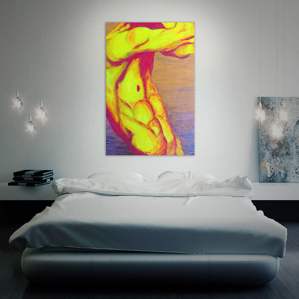 """Naked Elements - Fire"" Printed Canvass Wall Art"