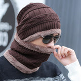 Unisex Super Warm Fleece-Lined Beanie + Neck Warmer Set
