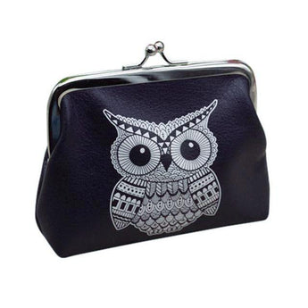 Vintage Tribal Owl B/W Coin Purse