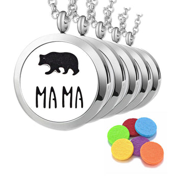 "5pc ""Mama Bear"" Bulk Order - Essential Oil Diffuser Necklaces"