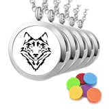 "5pc ""Wild Wolf"" Bulk Order - Essential Oil Diffuser Necklaces"