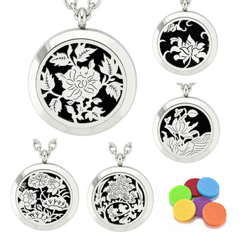 "5pc ""Flower Garden"" Bundle - Essential Oil Diffuser Necklaces"