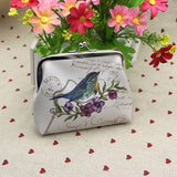Vintage Colorful Finch Coin Purse