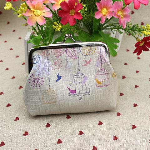 Vintage Bird Cages Coin Purse