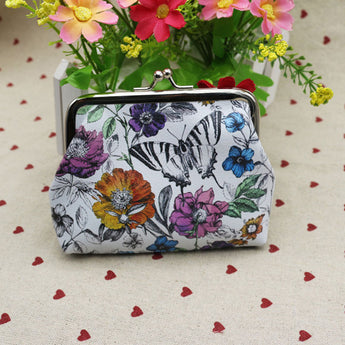 Vintage Flower Garden Coin Purse