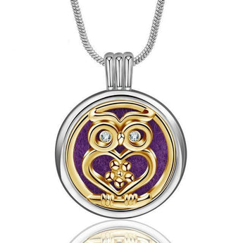 Illume™ Mystic Owl Essential Oil Diffuser Locket with 6 Easy-Switch Oil Pads