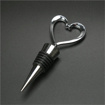 Elegant Heart Stainless Bottle Stopper