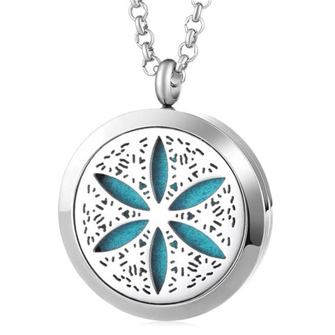 Sand Dollar Essential Oil Diffuser Locket with 5 Easy-Switch Oil Pads