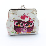 Vintage Owl Family Coin Purse
